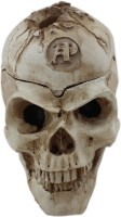 Tootpado Pirate Skull Design With Lid - 1b588 Yellow Ceramic Ashtray (Pack Of 1)