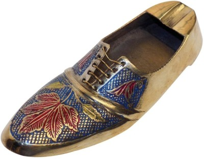 Crafts'man Vintage Style Antique Looking Shoe Shape Mixed Color Multicolor Brass Ashtray (Pack Of 1)