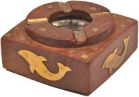 Artist Haat Wood Handicraft Handmade Brown Wooden Ashtray (Pack Of 1) - ASHEAJRJJGQMKHSG