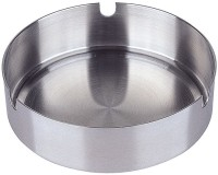 King Traders Silver Stainless Steel Ashtray (Pack Of 1)