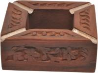 Artist Haat Wood Handicraft Handmade Brown Wooden Ashtray (Pack Of 1) - ASHEAJRJSY7PSNNE