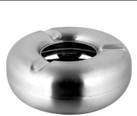 THW Silver Stainless Steel Ashtray (Pack Of 1)