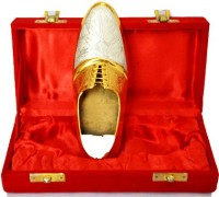 Odna Bichona Shoe Shape Party Use Silver, Gold Brass Ashtray (Pack Of 1)