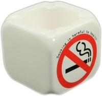 Importwala Ceramic No Smoking Ashtray White Ceramic Ashtray (Pack Of 1)