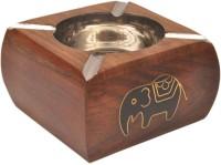 Artist Haat Wood Handicraft Handmade Brown Wooden Ashtray (Pack Of 1) - ASHEAJRJWNSTAWUU