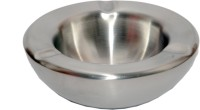 Stelz Inc Big Ash Tray Silver Stainless Steel Ashtray (Pack Of 1)