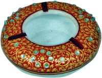 Craft Trade Marble Ash Tray Designer Multicolor Marble Ashtray (Pack Of 1)