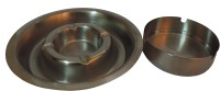 Suku 123456 Steel Stainless Steel Ashtray (Pack Of 2)