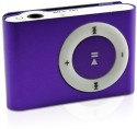 Expedite Metal Clip Shuffle 8 GB MP3 Player Player (Purple, 0 Display)