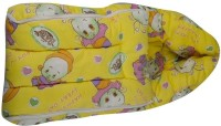 Mommas Baby Covered Carry Bed Single Animal Printed (Cotton Satin, Yellow)