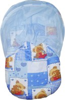 Babysid Collections Baby Bed / Matress Set With Zipless Net (Blue TED)- Made In Thailand- L-84cm ,W- 45cm ,H- 40cm, 8cm Thick Standard All (Cotton/ Recron Fibre, Blue)