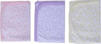 Zero Comfortable Baby Sheet Peach-Lime Green-Purple Cotton Sheet For Kids (Cotton, Peach, Lime Green, Purple)