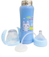 WonderKart Thermal Insulation Stainless Steel Baby Feeding Bottle - Blue (Print May Vary) - 240 Ml (Blue)