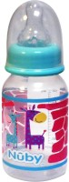 Nuby Feeding Bottle Medium Flow Blue - 120 Ml (Blue)