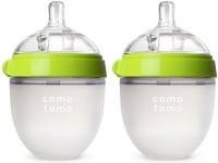 Comotomo Baby Bottle, Green, 5 Ounce, 2 Count - 150 Ml (Green)