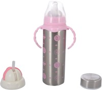 WonderKart Multifunctional Stainless Steel Baby Feeding Bottle - Pink - 240 Ml (Pink)