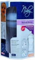 Nuby Natural Touch Silicon Feeding Bottle - 300 Ml (Multicolor)