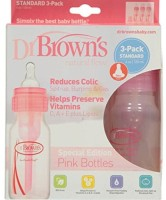 Baby Bucket Dr Browns Natural Flow Standard 4oz Bottle - 120 Ml (Pink)