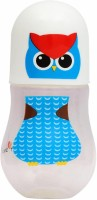 First Step Owl Print Feeding Bottles Wide Neck - 240 Ml (Multicolor)