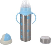 N&M Multifunctional Baby Steel Feeding Bottle With Attractive Color And Beautiful Design - Blue - 240 Ml (Blue)