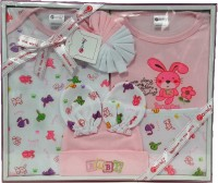 Montaly New Born 7 Piece Gift Set Pink (Pink)