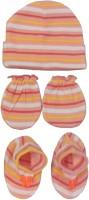 Kerokid Lining Orange Mittens Booties Cap Baby Care Combo Set (Orange)