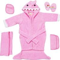 Belle Maison Baby Bath Robe Set (6Pcs.) 12-18 Month (Pink)