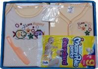 Jerry & Tom 6 Pcs Peach Baby Combo Gift Set (Peach)