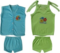 Jack & Ginni New Born Baby Clothes (Blue, Green)