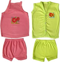 Jack & Ginni New Born Baby Clothes (Pink, Green)
