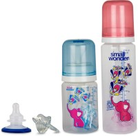 Small Wonder Pure Plus Set Of 4 - BPA Free 125ml & 250ml PP Bottle, Orthodontic LSR Pacifier & Breast Shield (Blue, Red)