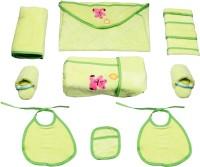 Belle Maison Baby Bath Robe Set (9Pcs.) 6-12 Month (Green)