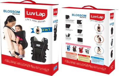 Luvlap Baby Carrier Blossom Baby Carrier (Black)