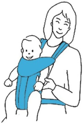 R for Rabbit Chubby Cheeks Baby Carrier (Blue)