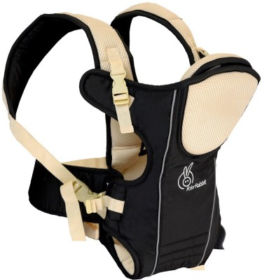 R for Rabbit Chubby Cheeks Baby Carrier (Black)