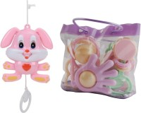 New Pinch Baby Pouch Of 7 Pcs Rattle With String Musical Toy Rattle (Multicolor)