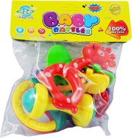 HMC Baby Rattle Set 4 Item Rattle (Multicolor)