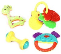 Littlegrin 4 Pc Rattle Set- Multi Color Rattle (Multicolor)