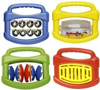Edushape Mini Orchestra, Set Of 4 Rattle (Multicolor)
