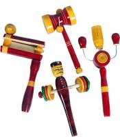 MNC Combo Of(Varvara+Damru+kitkiti+rattle) Rattle (Multicolor)