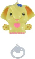 Sahibuy Baby First Musical Animal Pull String Toy Yellow Rattle (Yellow)