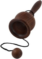 Crafts'man Beautiful CUP And Ball Perfect Game For Mind Sharpness For Kids Rattle (Brown)