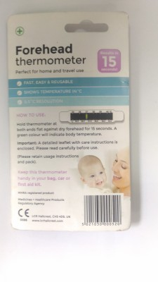 LCR HALLCREST Forehead fever meter Bath Thermometer (Whilte)