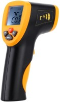 BalRama -50~550 Handheld Non-Contact Digital LCD IR Infrared Thermo Meter Laser Temperature Tester Pyrometer With Type-K Thermocouple + Leather Cover Case Handheld Thermometer (Yellow)