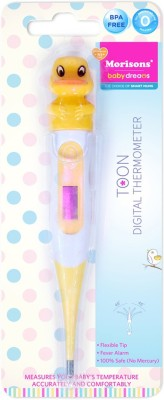Morisons Baby Dreams Toon Digital Thermometer Yellow Duck Bath Thermometer (Yellow)