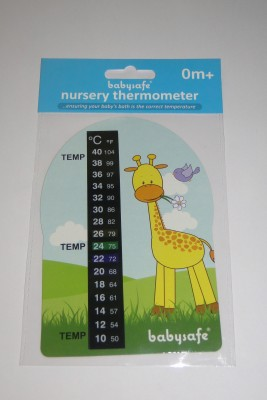 Babysafe nursery Meter Bath Thermometer (Yellow)