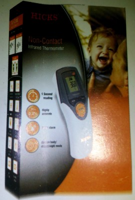 Hicks Non-Contact Infrared Thermometer Bath Thermometer (White)