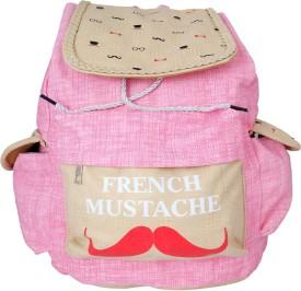 Super Drool Mustache LightPink 12 L Backpack
