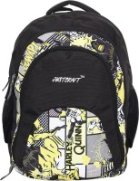 Justcraft Tiger Black And Printed Yellow 32 L Backpack Yellow