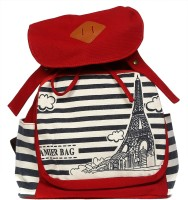 Raeen Plus Eiffel_tower 10 L Free Size Backpack Blue, Size - 350